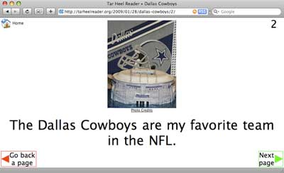 screenshot of a online book on the Dallas Cowboys